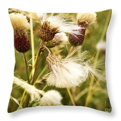 Blowing Away Throw #Pillow by Judi Saunders