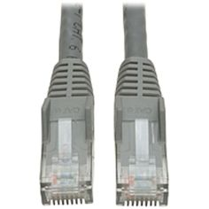 Tripp Lite 10ft Cat6 Gigabit Snagless Molded Patch Cable RJ45 M/M Gray 10 - 10ft - 1 x RJ-45 Male - 1 x RJ-45 Male - Gray