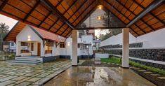 കൗതുകങ്ങൾ നിറയുന്ന വീട്, ഒപ്പം വാസ്തുവും! വിഡിയോ   Home Plans Kerala   House Plans Kerala   Home Style   Manorama Online House Main Door Design, Kerala Traditional House, Chettinad House, Home Exterior Makeover, Kerala Houses, Kerala House Design, Brick Architecture, House With Porch, Beautiful Buildings