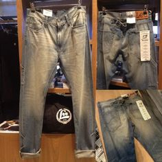 除左連身工人褲之外,Lee亦推出加入工裝元素的牛仔褲。褲側的小袋以前就是讓工人放置鐵錘等工具而加上的。現在再加以洗水褪色,展現經典。