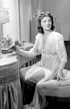 """Myrna Loy in """"Shadow of the Thin Man"""", 1941."""