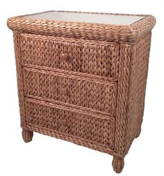 Attractive Seagrass Chest   3 Drawer Miramar