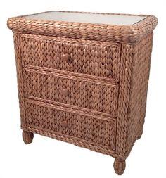 Seagrass Chest - 3 Drawer Miramar #seagrass #bedroom #furniture #dresser