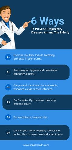 Learn More What Are The Different Ways to Prevent Respiratory Diseases among the Elderly by visiting  http://www.shabahealth.com/. #ShabaHealthServicesCorp #healthcare #seniorcare
