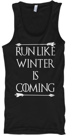 Run Like Winter Is Coming | Teespring - Tap the pin if you love super heroes too! Cause guess what? you will LOVE these super hero fitness shirts!