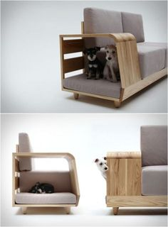 the dog house sofa by seungji mun the furniture piece enhances the harmony between household pets and humans. Dog Furniture, Furniture Design, Smart Furniture, Sofa Design, Furniture Ideas, Woodworking Furniture, Furniture Layout, Luxury Furniture, Design Moderne