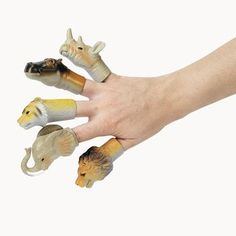 ~ 5 ~ Jungle Safari Zoo Animal Finger Puppets « Delay Gifts