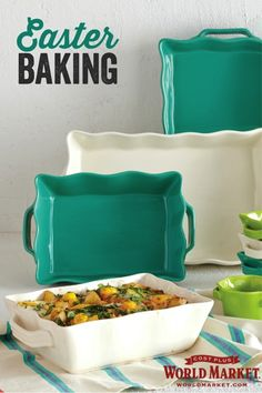 Serious bakers shop World Market for unbeatable values on quality bakeware, from durable baking pans and dishes to elegant racks to ramekins. #WorldMarket