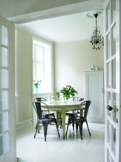 Scandinavian dining area