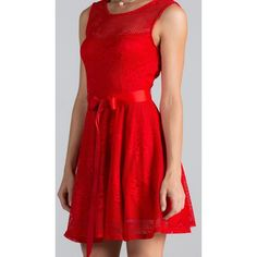 Point Of Perfection Illusion Red Lace Tulle Dress (4300 RSD) ❤ liked on Polyvore featuring dresses, sexy cocktail dresses, red cocktail dress, fit and flare cocktail dress, red dress and sexy red cocktail dress
