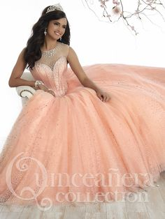 2dc2e3a5230 68 Best Coral Quinceanera Dresses images in 2019