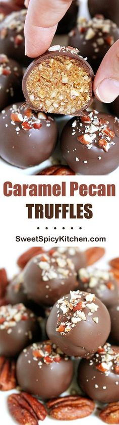 If you like chocolate, pecans and caramel sauce, I have a special recipe for you - Caramel Pecan Truffles. Do you like the smell of baked pecans?