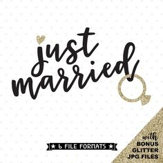 Just Married SVG file