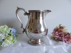 Wallace Silversmiths Castleton Water Pitcher - M601 - Elegant and Classic by SecondWindShop on Etsy