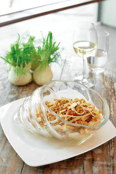 Spaghetti Piccanti (Spaghetti with Calamari, anchovies, bread crumble, chilli, garlic and fennel)  by Chef Antonio