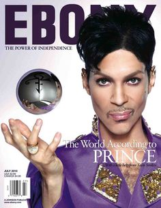 Love Prince - and not just because he's a purple fiend too!  Prince on the July 2010 cover of Ebony Magazine - GossipOnThis.com