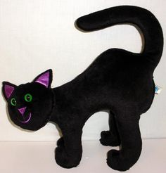 1999 Kids Of America Corp. Large Stuffed Black Halloween Cat With Weighted Legs #KidsOfAmericaCorp