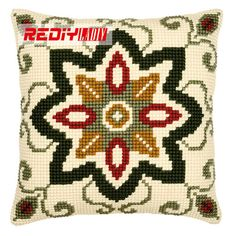 Geometric 7 Cushion Front Cross Stitch Kit by Vervaco Wool Embroidery, Cross Stitch Embroidery, Embroidery Patterns, Cross Stitch Kits, Cross Stitch Designs, Cross Stitch Patterns, Cross Stitch Cushion, Cross Stitch Pictures, Needlepoint Pillows