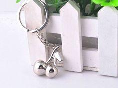 HJ084 HJ Cherry Keyring Creative Alloy Polished Chrome Pendant Key Chain Gift Check out http://ift.tt/1od5wiQ