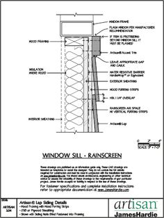 Fixed Timber Window Detail Details Pinterest Timber