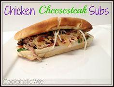 Cookaholic Wife: SRC: Chicken Cheesesteak Subs