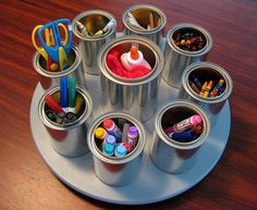 To put everything the kids need in this and place it on their tables!