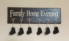 FHE (Family Home Evening) Board on Etsy, $30.00