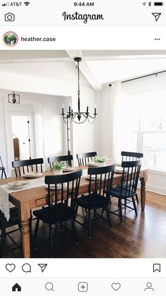 Farmhouse Dining Room - style typically appears with its distinctive huge table. People wouldn't have difficulties to tell what kind of dining room that is Dining Room Decor Dining Room Remodel, Dining Room Walls, Farmhouse Dining Room, Dining Room Design, Dining Room Chairs, Home Decor, Room Remodeling, Dining Room Table, Dining Room Style