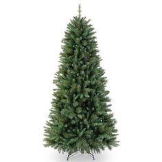 "National Tree Co. 7' 6"" Rockland Pine Artificial Christmas Tree- Slim"