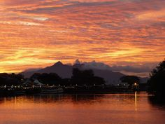 Sunset Over the Sarawak River, Kuching, Malaysia