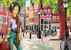 """""""Love is the greatest treasure in life"""" - Pascualina City Buildings, Kitsch, Amsterdam, Frases, Caricatures, Drawings, Girls, Art, Souvenirs"""