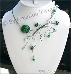 dark green forest  white necklace bridesmaids by creationtwinne, $45.00