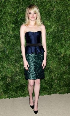 Emma Stone in Burberry at a Fashion Event in New York