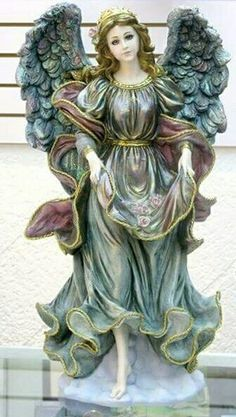 Angel Angel Garden Statues, Garden Angels, Angel Artwork, Gothic Angel, Arte Country, Ceramic Angels, I Believe In Angels, Fairy Figurines, Angel Crafts