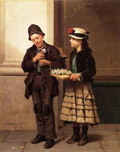 The Flower Girl - John George Brown (British and American, 1831-1913)