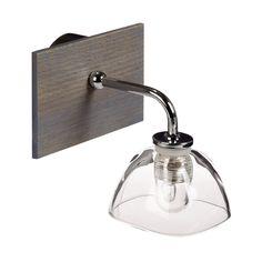 Applique 3 lumières de salle de bain BOIS Bois GRIS/BLEU ...