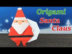 Discover more about Learning Origami Christmas Decorations Diy Crafts, Diy Christmas Gifts, Holiday Crafts, Diy And Crafts, Paper Crafts, Origami Folding, Origami Paper, Origami Santa Claus, Origami Decoration