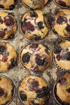 Vegan Vanilla-Mixed Berry Muffins