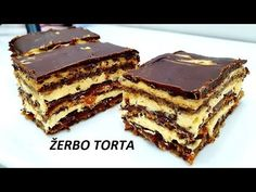 ŽERBO TORTA/ STARINSKI RECEPT ZA SAVRSENU TORTU NEODOLJIVOG UKUSA - YouTube Torte Recepti, Kolaci I Torte, Croation Recipes, Serbian Recipes, Serbian Food, Baking Recipes, Dessert Recipes, Macedonian Food, Torte Cake