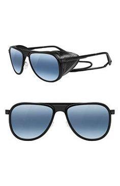 500fc3f792ad VUARNET Designer Glacier 57mm Aviator Sunglasses