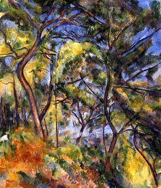 Forest // Paul Cezanne // 1894 - www.atelier-cezanne.com
