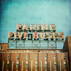 Farine Five Roses, Montreal, Quebec, Canada Quebec Montreal, Montreal Ville, Quebec City, Orange Julep, Montreal Architecture, O Canada, Alberta Canada, Canada Travel, Le Havre