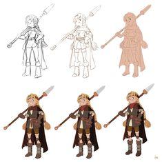 character process by Hong SoonSang. ► get more @rohitanshu ◄