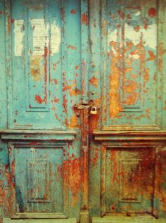 I love these old doors. Slovenia, Eastern Europe.