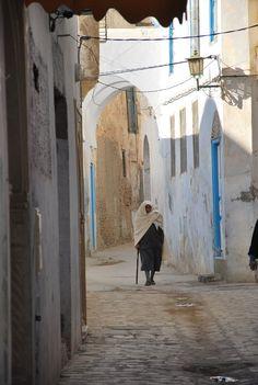 Streets of Kairouan, Tunisia