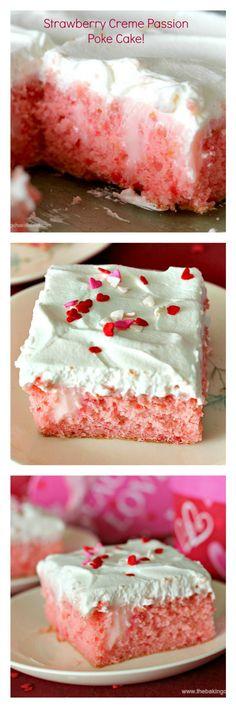 Strawberry Creme Passion Poke Cake! – The Baking ChocolaTess