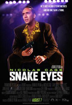 """Ojos de Serpiente"" (""Snake Eyes"", 1998). Dir. Brian de Palma. Stars: Nicolas Cage, Gary Sinise."