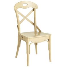 Curved Back Dining Chair - Antique Ivory