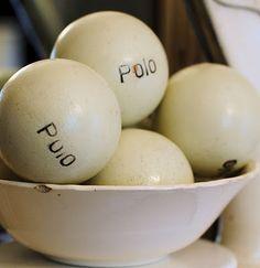 old polo balls