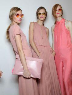 pale pink & pantsuits